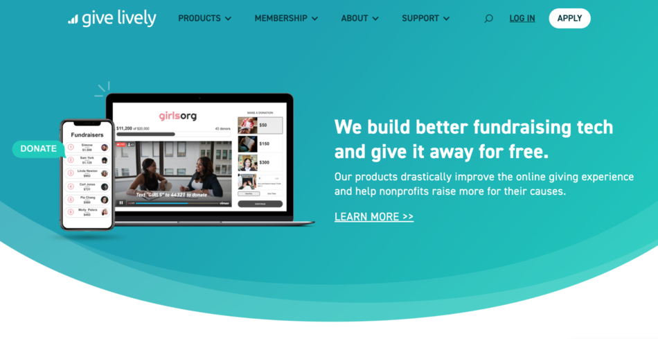 give lively forever free nonprofit software