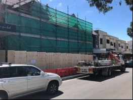 Angled photo of scaffolding built in Sydney's Western Suburbs