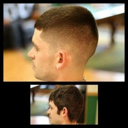 customer looking good after quality haircut from Sanborn barbershop
