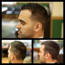 haircut before and after from barbers at the Gentlemens Club