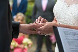 Exchanging rings photo