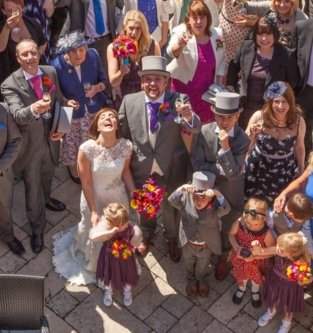 Wedding Group from above photo