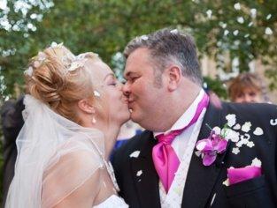 Married Couple Confetti Photo