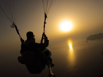 Babadağ Yamaç Paraşütü Gün Batımı