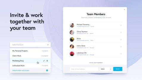 closer invite team features