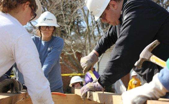 Southern Highlands Renovation team putting together the framework of an extension