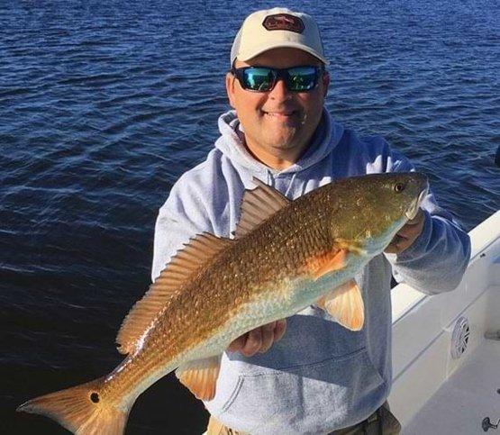 Captain  Corey Gradwohl fishing in delacroix