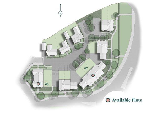 Brampton Park Site Plan & Available Plots