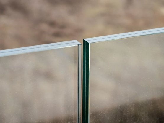 Close up of a Sydney glass balustrade