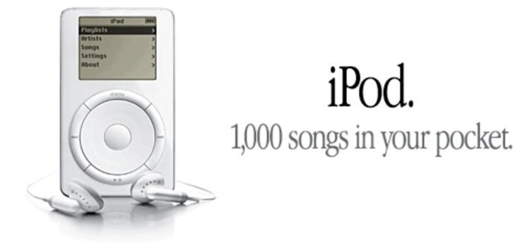 iPod. 1,000 songs in your pocket