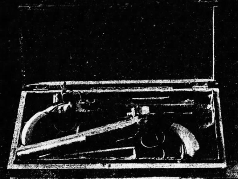 Rival Caesars Burr and Hamilton famous duel pistols